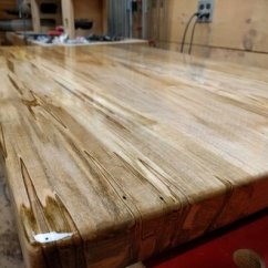 Kitchen Island Top White Granite Spalted Maple By Toddbeaulieu Lumberjocks Com