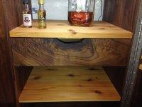 Walnut/Cedar Liquor Cabinet - by jaycidesigns ...
