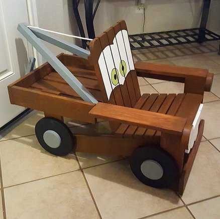 Tow Mater Kids Chair By Southernrustic Lumberjockscom