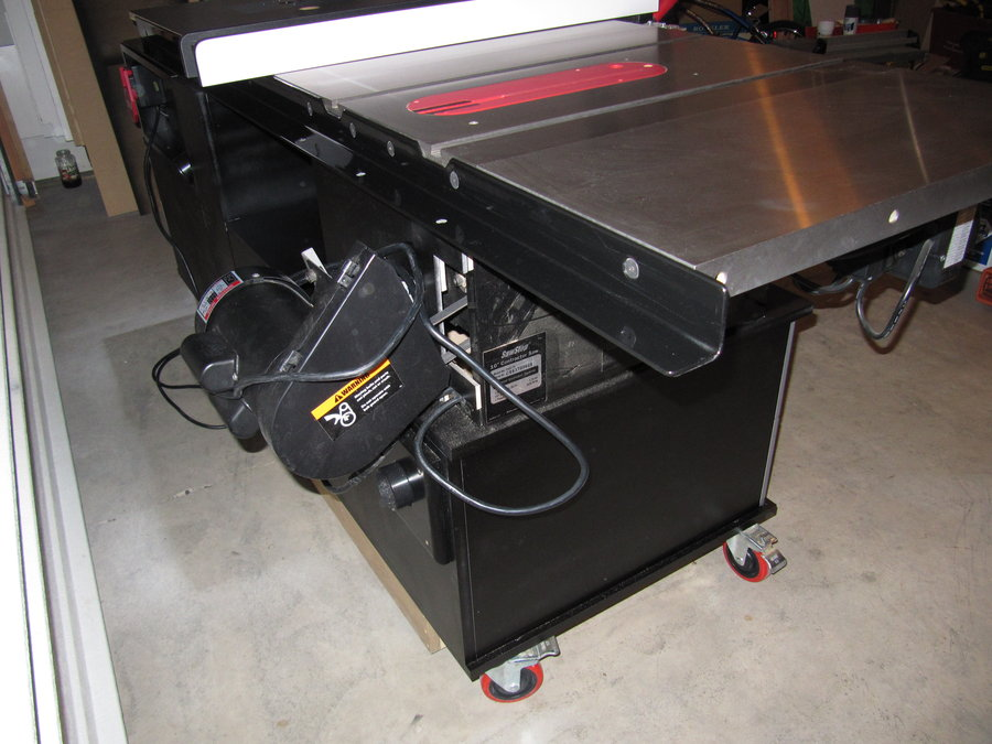 My SawStop and Router Cabinet with Folddown Outfeed Table