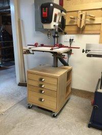 Drill Press Cabinet - by boatz @ LumberJocks.com ...