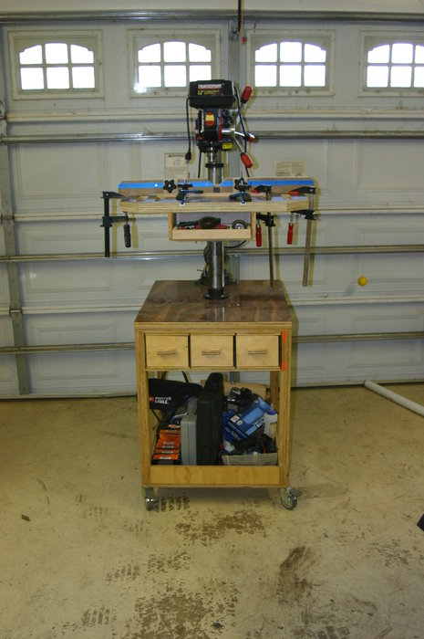 Bench Top Drill Press Rolling Cart By Turbinetester