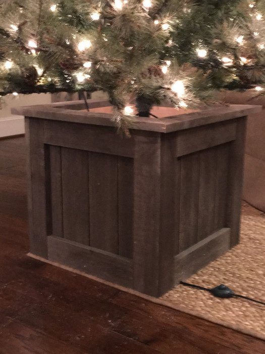 Christmas Tree Box Stand.Wooden Christmas Tree Stand Box Claus Vaultradio Co