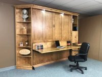 Heavy Front KING Murphy bed with Desk