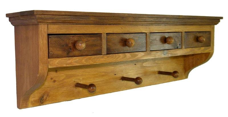 Wall Coat Rack with Handy Drawers