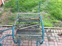 Old Walmart patio furniture rehab - a pallet wood project ...