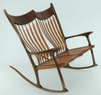 Double rocking chair - Lacewood & Walnut - by Canadian ...