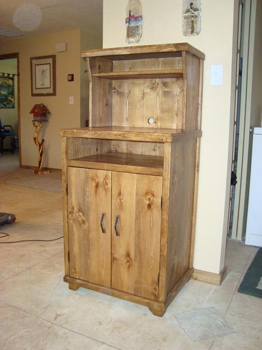 diy kitchen pantry cabinet plans island bench microwave stand - by teresa mellon @ lumberjocks.com ...
