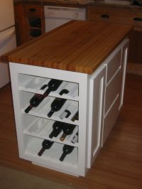 Kitchen Island with Wine Rack - by Elvin @ LumberJocks.com ...