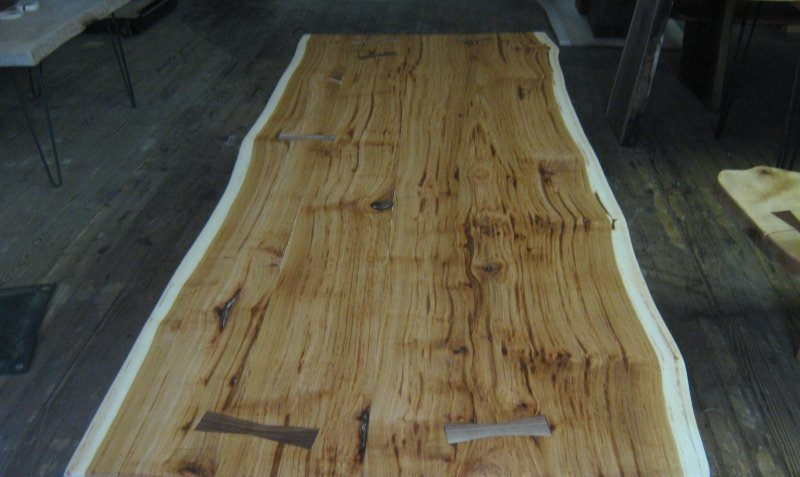 Custom Hickory Live Edge Table Top 7 By TexPenn Woodworking Community