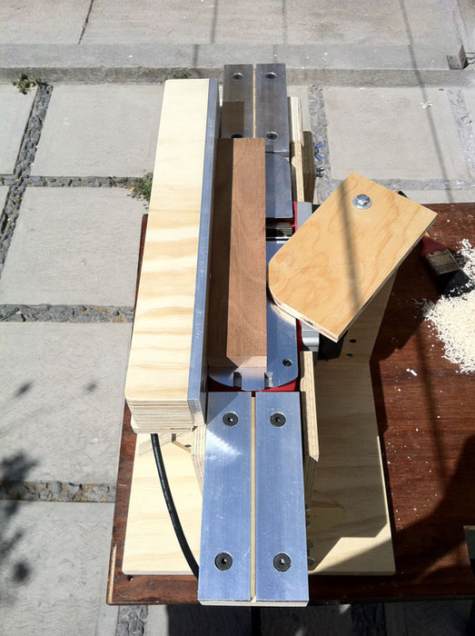 power planer to bench jointer conversion  by FreddyS  LumberJockscom  woodworking community