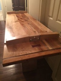Japanese Trestle (Kigumi) Table from Pecan Hickory - by ...