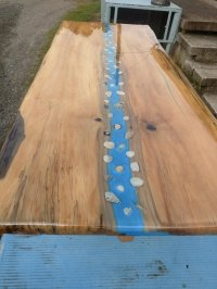 Spalted Maple Live Edge River Coffee Table - by MJR ...