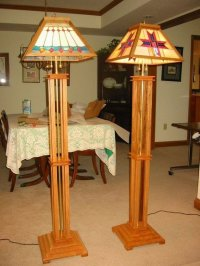 Mission Style Floor Lamps - by Ampeater @ LumberJocks.com ...
