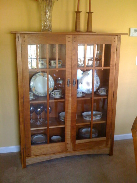 Wood Work Mission China Cabinet Plans PDF Plans
