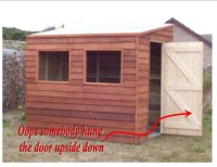8ft x 6ft Pent roof shed - by andydachippy @ LumberJocks ...