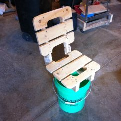 Fishing Chair Small Design Youtube (5-gallon) Bucket - By Dakremer @ Lumberjocks.com ~ Woodworking Community