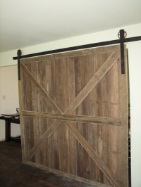 Sliding Barnwood door