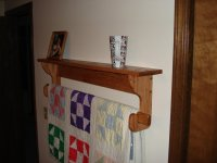 Wall hanging Quilt Rack and Shelf - by Mork @ LumberJocks ...