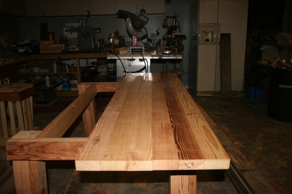 Farm house style table  Ana White Inspired  by camps764  LumberJockscom  woodworking community