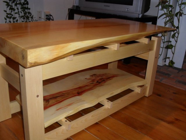 this coffee table was a small commission manitoba maple top