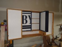 Wood Pegboard Cabinet PDF Plans