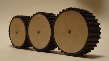 RUBBER WOOD GEARS (RECYCLED )