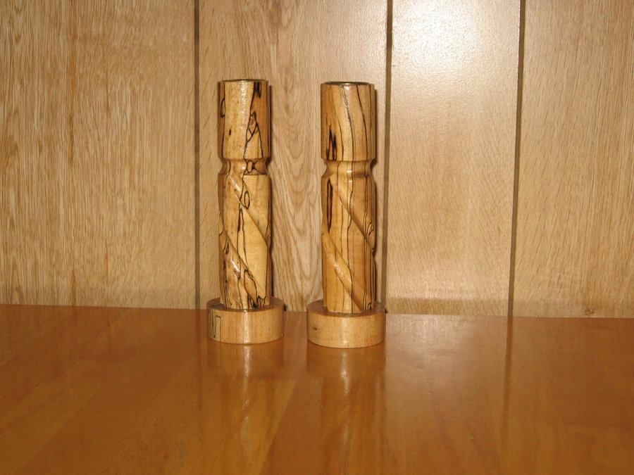 MORE CRAFTSMAN ROUTER CRAFTER TURNED CANDLESTICKS AND