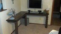Wall Mount Corner Desk (reclaimed wood)