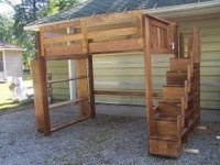 loft bed with stairs and bookcase - by nate22 ...