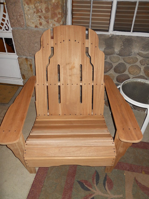 Green and Green Adirondack Chairs by Jim  by quicksilver