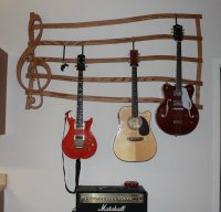 Wall Mount Guitar Hanger - by CampD @ LumberJocks.com ...