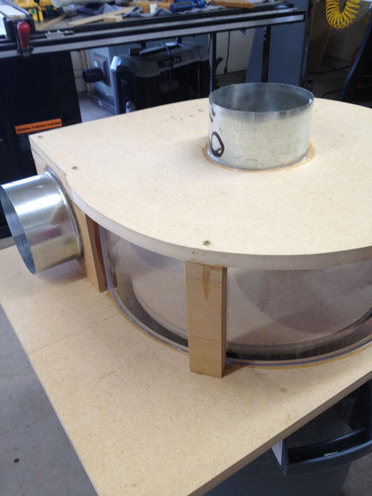 Thien Top Hat dust collector separator Thein baffle and