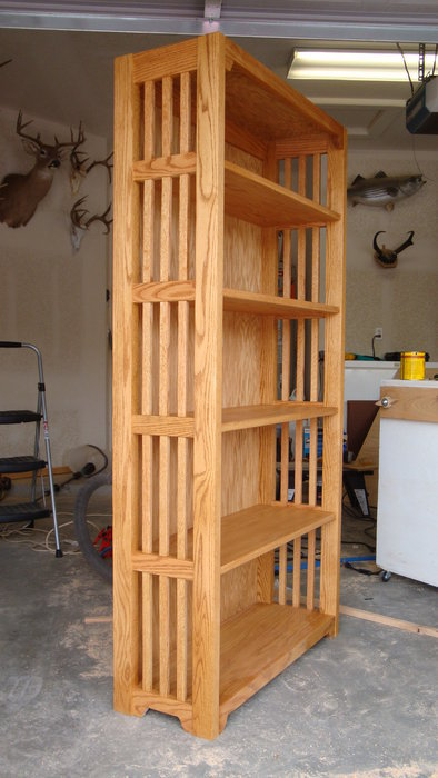 mission style bookcase plans free