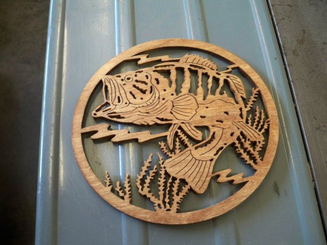 Bass scroll saw projects - by SPJR @ LumberJocks.com ~ woodworking ...
