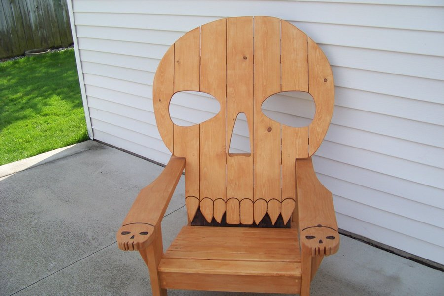 skull adirondack chair plans restoring eames lounge free woodworking for hobby book covers