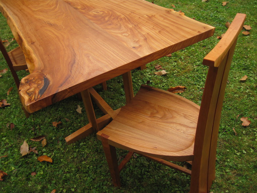 tall back dining chairs affordable desk catalpa and black cherry table - by jcsterling @ lumberjocks.com ~ woodworking community