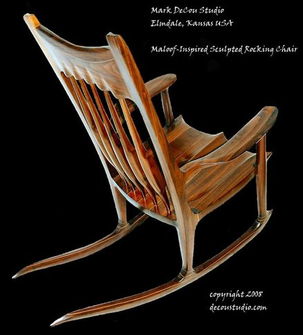 sam maloof rocking chair plans lawn folding chairs a moving sculpture: inspired rocker, by mark decou - ...