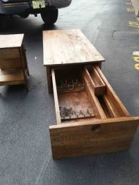 Coffee Table with Locking Gun Safe - by hoss12992 ...