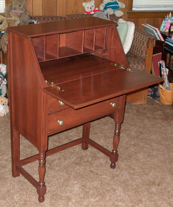 Refinished Secretary Desk old Project  by Dave Rutan