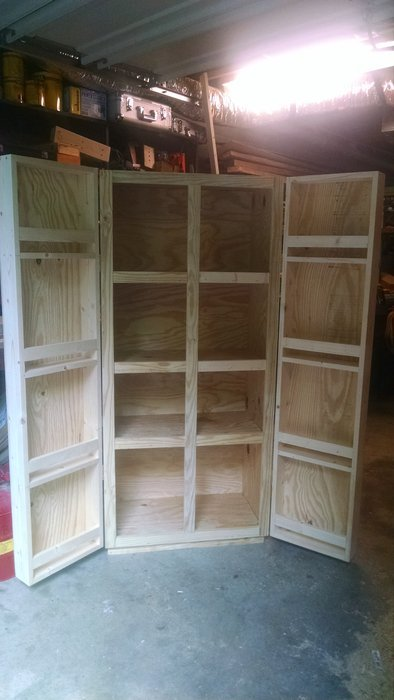 Plywood And Pine Storage Cabinet For My Buddies Daughters