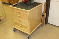 Drill Press Storage Unit, Table, & Fence - by Calmudgeon ...