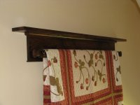 Wall Hanging Quilt Rack and Shelf