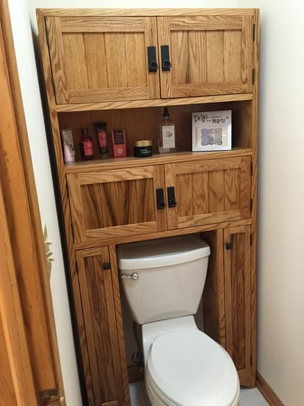 Mission Style Bathroom Cabinet  by Randy Moseley