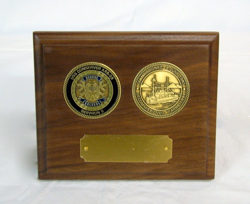 Challenge Coin Desk Pen Sets and display plaques  by