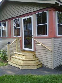 New front steps - by PirateOfCatan @ LumberJocks.com ...