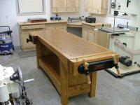 Red Oak Woodworking Bench