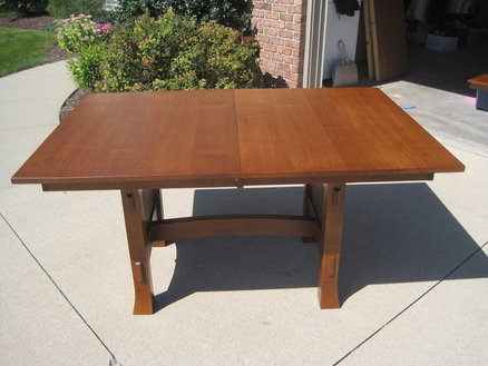 mission dining room table plans