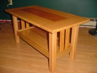 Red Oak and Mahogany Craftsman style Coffee Table - by ...