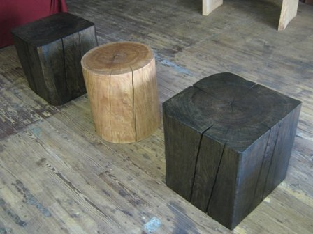 Solid Wood Cube Amp Cylinder Accent Tables By TexPenn Woodworking Community
